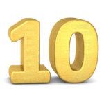 zahl cipher 10 gold vertikal