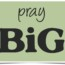 Pray BIG!